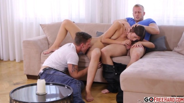 Girl Watches Guys Jerk Off